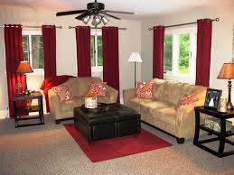 Al Living Room Designs Living Room Red Curtains Zampco