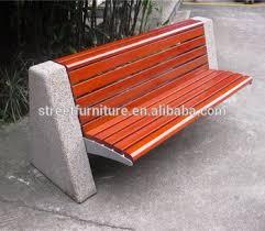 concrete garden bench. Concrete Garden Bench Cement Stone Seat Elements Without Armrest