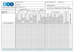 inspection sheet get a free racking inspection checklist sema approved racking