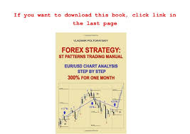 Read Forex Strategy St Patterns Trading Manual Eur Usd