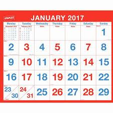 staples photo calendar staples 2017 month to view wall calendar 616 x 267mm
