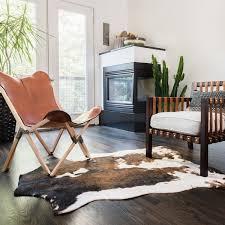 sophisticated rawhide rug in faux cowhide brown beige area 3 10 x 5 on free