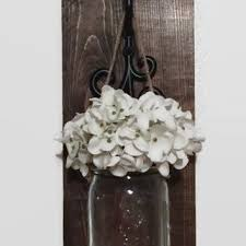 mason jar sconcerustic wall decor farmhouse decordistressed cottage decorhanging adore diy hanging mason jar