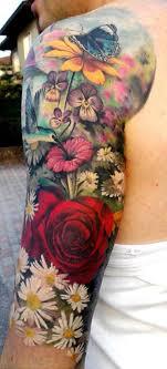 татуировка цветы на руке