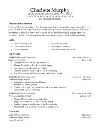Camp Counselor Resume Sample Best of Best Basketball Camp Counselor Resumes ResumeHelp