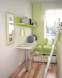 Green Small Bedroom In Small Apartment