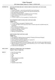 Service Delivery Line Manager Resume Samples Velvet Jobs