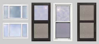 A variety of storm windows. Fiberglass Window Frames