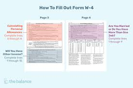 State Of California Paycheck Calculator Tips For Calculating Allowances And Preparing Form W 4