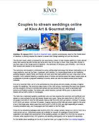 Kivo Press Release January 2015 Kivo Hotel