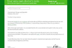 Doctors Note For The Flu Xbox One Heres Your Official Doctors Note From Microsoft Den Of