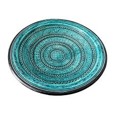 Turquoise Decorative Accessories PreOwned Morrocan Turquoise Plate 100 liked on Polyvore 97
