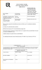 Example Bid Proposal 24 Construction Bid Template Itinerary Template Sample 21