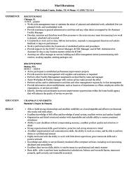 Printable Receptionist Resume Word Template | Resume Template