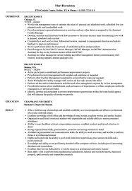 Printable Receptionist Resume Word Template   Resume Template