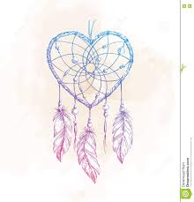 Heart Dream Catcher Tattoo Dreamcatcher Heart Illustration Stock Vector Illustration of 24
