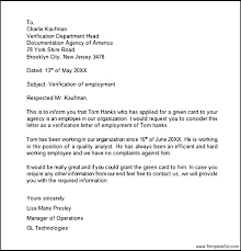 Samples Of Employment Verification Letters Letter Sample