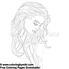 Beautiful Woman Portrait Coloring Page 1283 Coloring By Miki