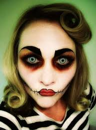 zombie face makeup for