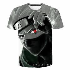 Harajuku Japanese <b>anime Kakashi</b> shirt <b>boys</b> and girls 3D printed <b>T</b> ...