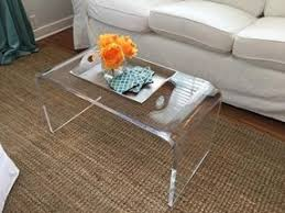 Coffee Table, This Modern Table In Clear Finish Acrylic Coffee Tables:  Quality Plastic Coffee