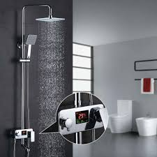 Homelody 3 Wege Duschsystem Lcd Temperatur Anzeige Duscharmatur Mit Rainshower Regendusche Handbrause Duschkopf Dusche Armatur Und Badewanne Duschset