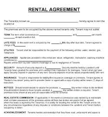 Lease Agreement Example Basic Rental Lease Template Agreement South House Contract