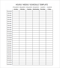 Hourly Calendar. Printable 24 Hour Scheduel Plan Template Pdf ...
