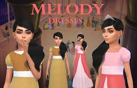 MELODYA little mermaid princess should have some accurate movie clothing,  so here are two dresses from … | Sims 4 children, Sims 4 clothing, Disney  princess dresses