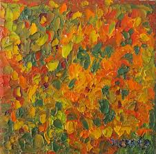 painting painting autumn leaves abstract by nancy craig
