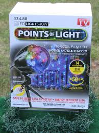 As Seen On Tv Led Lightshow Points Of Light New Led Points Of Light Lightshow Projection Remote 114 Effects Indoor Outdoor