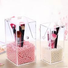 Crystal Plastic Makeup Brush Organizer Cosmetic Storage Box Makeup Tool  Flashing Pencil Holder Lipstick Organizer Case Jewelry Storage Makeup  Organiser From ...