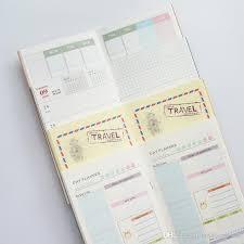 Colored Planner Notebook Travelers Notebook Refills Filler Paper