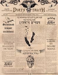 Harry Potter Newspaper Template Newspaper Theme