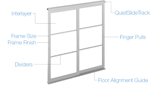 glass and acrylic sliding closet doors system options
