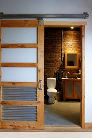 modern interior barn doors. Corrugated Metal In Sliding Barn Door | Esther Hershcovich Modern Interior Doors R
