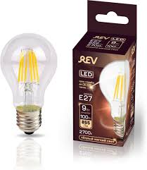<b>Лампочка REV Deco Premium</b> Filament A60, Теплый свет 9 Вт ...