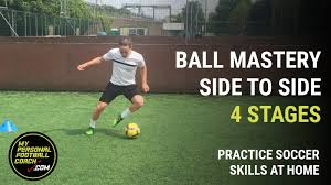practice soccer skills at home