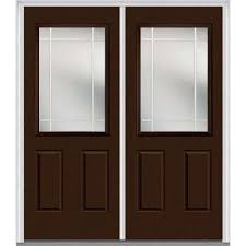 double front doors. 72 In. X 80 Prairie Internal Muntins Right-Hand Inswing 1/ Double Front Doors