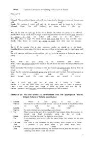 Beautiful Future Tense Going To Worksheets Past Present Or Entens ...