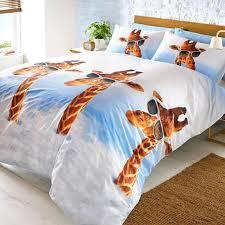 fun animal single duvet covers dogs elephant giraffe orangutan
