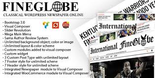 Wordpress Template Newspaper Newspaper Website Templates From Themeforest
