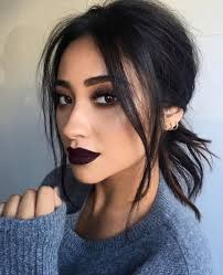 love this look shaymitc dark lipstickmakeup