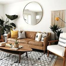 coffee table for brown leather couch living room wooden floor white rug brown leather sofa wooden