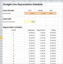 Straight Line Depreciation Equation Straight Line Depreciation Schedule Calculator Double Entry