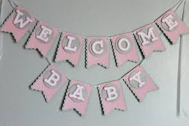 Welcome Home Baby Boy Banner Baby Shower Welcome Baby Banner Girl Banners Pinterest