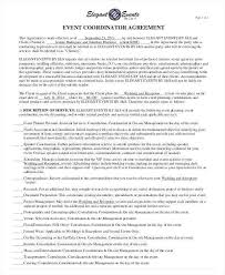 Event Planning Services Agreement 15 Wedding Planner Contract Sample Paystub In 2019