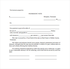 Promissory Note Word Template Example Of Promissory Note Template Business