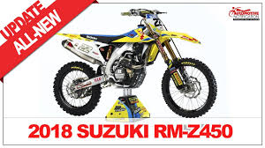 2018 suzuki motocross bikes. simple suzuki 2018 suzuki rmz 450 unveiled automotive notification  motorcycles on suzuki motocross bikes 2