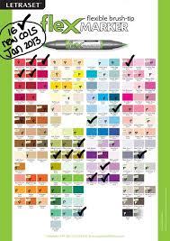 Letraset Flex Markers Colour Chart Neat Stuff Pro